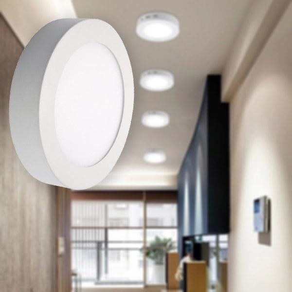 18W kerek, külső szerelésű LED panel, hideg fehér