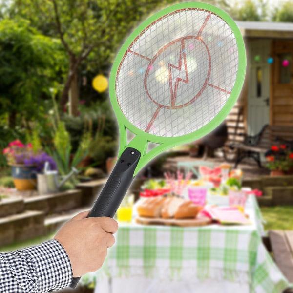 Nagyon ütős rovarirtó / elektromos légycsapó és szúnyogirtó teniszütő