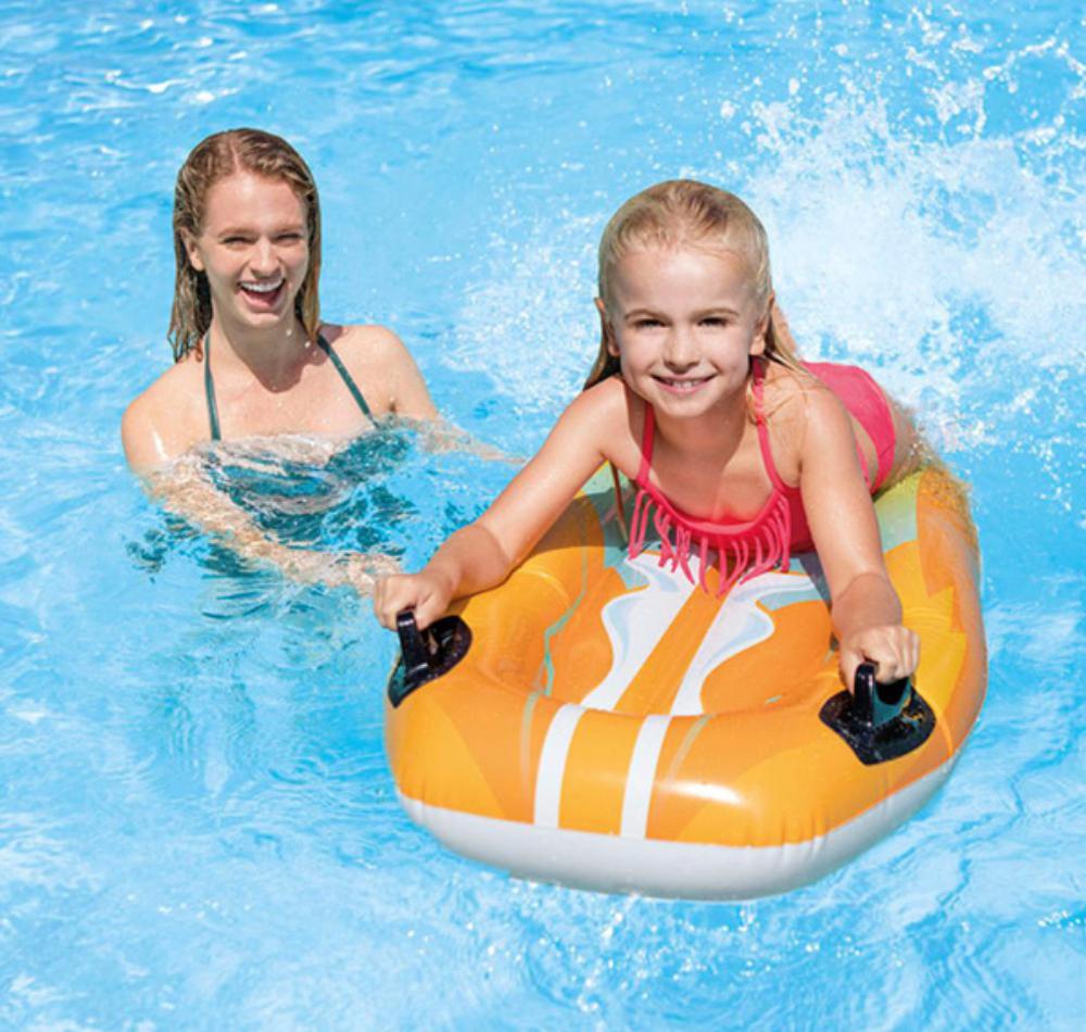 Felfújható gyerekmatrac kapaszkodóval / szörfmatrac