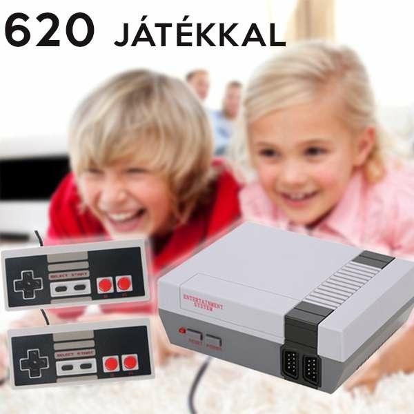 Retro játékkonzol 620 beépített játékkal / éld újra a 90-es éveket!
