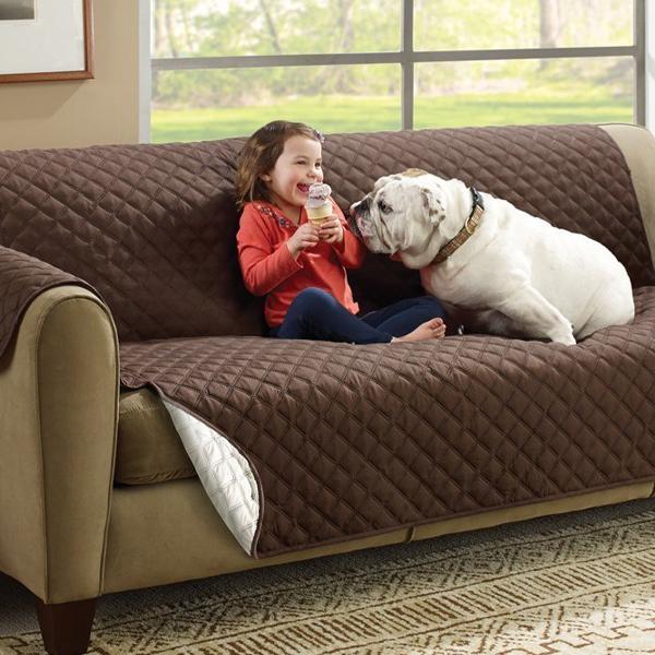 Kétoldalú kanapévédő takaró, nagy méret – véd a szennyeződésektől és az állatszőrtől