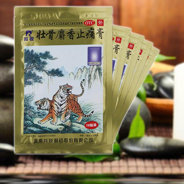 Az eredeti tigris tapasz / 10 csomag - izom- és ízületi fájdalomcsillapítás természetes anyagokkal