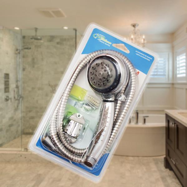 Többfunkciós wellness zuhany szett / víztakarékos zuhanyfej + gégecső