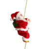 Kép 1/3 - Láncon mászó zenélő mikulás / karácsonyfadísz