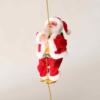 Kép 3/3 - Láncon mászó zenélő mikulás / karácsonyfadísz