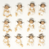 Kép 2/3 - 12 darabos hűtőmágnes készlet karácsonyi angyalokkal