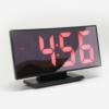 Kép 1/4 - Hajlított tükrös LED ébresztőóra hőmérővel, piros számokkal