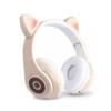 Kép 1/3 - CatEar Bluetooth fülhallgató/mikrofon LED fényekkel / cicafülekkel / bézs