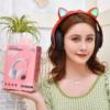 Kép 3/3 - CatEar Bluetooth fülhallgató/mikrofon LED fényekkel / cicafülekkel / fekete