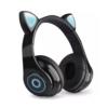 Kép 1/3 - CatEar Bluetooth fülhallgató/mikrofon LED fényekkel / cicafülekkel / fekete