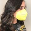 Kép 2/2 - FFP2 légzésvédő egészségügyi arcmaszk (KN95) / sárga / 1 db