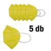 Kép 2/3 - FFP2 légzésvédő egészségügyi arcmaszk (KN95) / sárga / 5 db