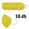 Kép 2/3 - FFP2 légzésvédő egészségügyi arcmaszk (KN95) / sárga / 10 db