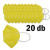 Kép 2/3 - FFP2 légzésvédő egészségügyi arcmaszk (KN95) / sárga / 20 db