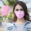 Kép 2/3 - FFP2 légzésvédő egészségügyi arcmaszk (KN95) / rózsaszín / 5 db