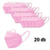 Kép 3/3 - FFP2 légzésvédő egészségügyi arcmaszk (KN95) / rózsaszín / 20 db