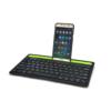 Kép 1/4 - Multi-platform Bluetooth billentyűzet - tablet- és telefontartóval
