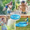 Kép 5/6 - 100 cm-es, mintás szökőkút szőnyeg gyerekeknek / locsolószőnyeg - kék, vízi állatok