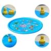Kép 6/6 - 100 cm-es, mintás szökőkút szőnyeg gyerekeknek / locsolószőnyeg - kék, vízi állatok