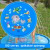 Kép 1/6 - 100 cm-es, mintás szökőkút szőnyeg gyerekeknek / locsolószőnyeg - kék, vízi állatok