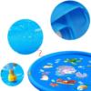 Kép 4/6 - 100 cm-es, mintás szökőkút szőnyeg gyerekeknek / locsolószőnyeg - kék, vízi állatok