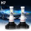 Kép 1/3 - H7 X3 LED fényszóró szett / 1 pár, 25W, 6000 LM