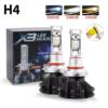 Kép 3/4 - H4 X3 LED fényszóró szett / 1 pár, 25W, 6000 LM