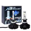 Kép 3/3 - H1 X3 LED fényszóró szett / 1 pár, 25W, 6000 LM