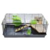 Kép 5/5 - Trudy teljesen felszerelt hörcsögketrec – zöld (58x32x27 cm)