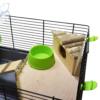 Kép 3/5 - Trudy teljesen felszerelt hörcsögketrec – zöld (58x32x27 cm)