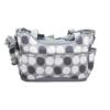 Kép 2/4 - Yodo pelenkázó táska szett – kistáskával / szürke pöttyös