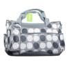 Kép 3/4 - Yodo pelenkázó táska szett – kistáskával / szürke pöttyös