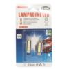 Kép 1/2 - C10W Autós LED izzó 12V - 42 mm, SV 8.5 / 2 db, 4 LED (10994)