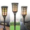 Kép 3/6 - Napelemes LED fáklya pislákoló fénnyel - leszúrható, falra vagy járdára rögzíthető (XF-6005)
