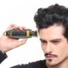 Kép 2/4 - Professzionális elektromos hajnyíró – vezeték nélküli trimmelő / arany-fekete (V-192)