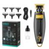 Kép 4/4 - Professzionális elektromos hajnyíró – vezeték nélküli trimmelő / arany-fekete (V-192)