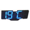 Kép 1/4 - Távirányítós digitális LED óra hőmérővel - színváltós / asztali és fali óra