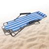 Kép 2/5 - Csíkos napozóágy, állítható– 150x47 cm / kék