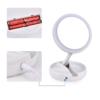 Kép 3/5 - Kétoldalas LED sminkelő tükör – 1x-es és 10x-es nagytás / Sminktartóval (JG-988)