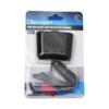 Kép 2/5 - 100W lapos szivargyújtó elosztó / 2 db szivargyújtó + 1 db USB kimenet