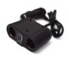 Kép 3/5 - 100W lapos szivargyújtó elosztó / 2 db szivargyújtó + 1 db USB kimenet
