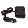 Kép 5/5 - 100W lapos szivargyújtó elosztó / 2 db szivargyújtó + 1 db USB kimenet