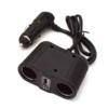 Kép 1/5 - 100W lapos szivargyújtó elosztó / 2 db szivargyújtó + 1 db USB kimenet