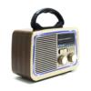 Kép 1/3 - Hordozható rádió, retro design / MP3, AUX, USB, TF-kártya, rádióadás lejátszás