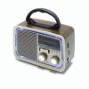 Kép 3/3 - Hordozható rádió, retro design / MP3, AUX, USB, TF-kártya, rádióadás lejátszás