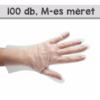 Kép 1/4 - Eldobható védőkesztyű púder nélkül, TPE / 100 darabos csomag - M-es méret