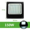 Kép 1/3 - 150W CREE LED energiatakarékos reflektor
