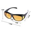 Kép 3/4 - 2 db Clear Vision tisztánlátó szemüveg, nappali és éjszakai vezetéshez is