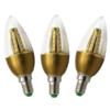 Kép 1/3 - 3 db 5W gyertya LED izzó üveg búrával / E14 foglalatba - meleg fehér