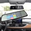 Kép 1/6 - Okos visszapillantó tükörbe épített autós útvonalrögzítő kamera navigációval + tolatókamera + 2/3G + GPS + Multimédia lejátszó